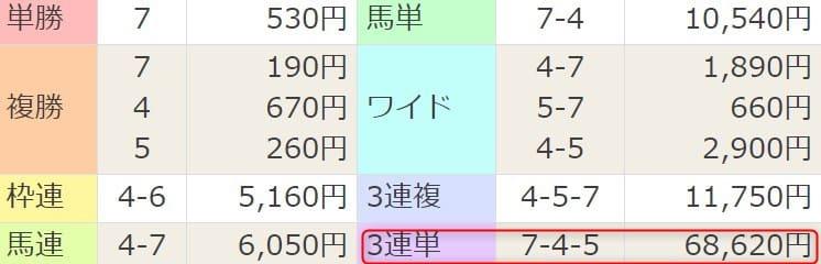 2021年2月28日阪神9R結果
