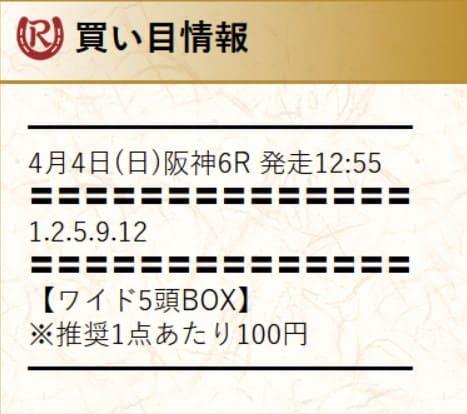 令和ケイバの無料予想を検証2021年4月4日阪神6R