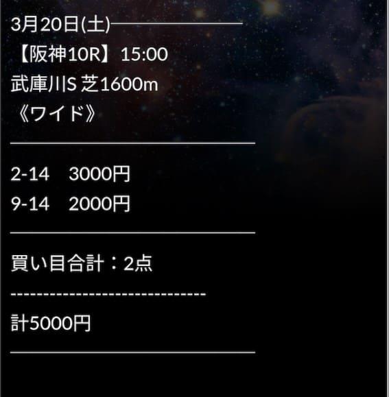 2021年3月20日阪神10R