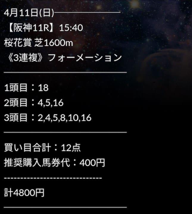 2021年4月11日阪神11R