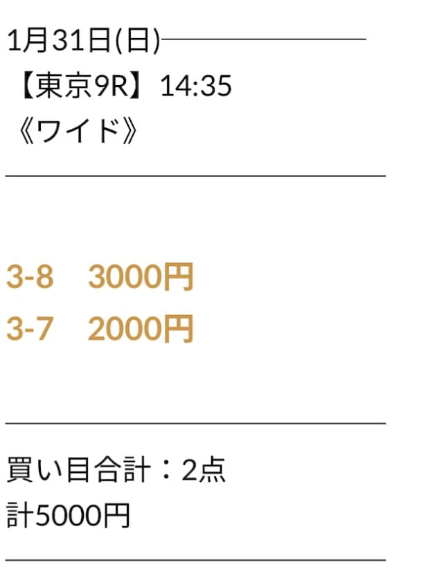 にのまえの無料予想2021年1月31日東京09R