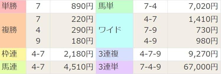 2021年4月11日阪神8R結果